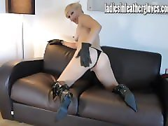 Blonde, Leather, Gloves, Lingerie, Pornhub