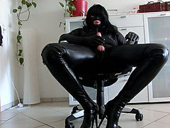 Crossdresser, Leather, Gloves, Dress, Xhamster