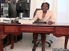 Granny, Office, Strip, Xhamster